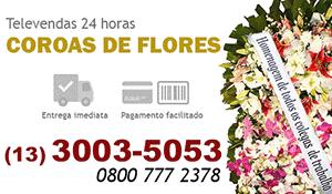 Coroa de Flores São Vicente - Coroas de Flores para Velório