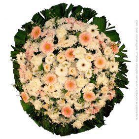 Coroa de Flores Delicada Rosa