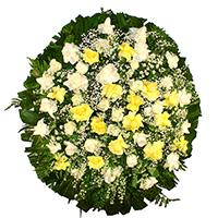CoroaDeFlores.net - Coroa de Flores Delicada Amarela