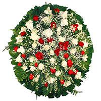 CoroaDeFlores.net - Coroa de Flores Delicada Vermelha