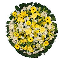 CoroaDeFlores.net - Coroa de Flores Luxo Amarela