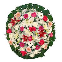 CoroaDeFlores.net - Coroa de Flores Luxo Rosa