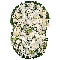 CoroaDeFlores.net - Coroa de Flores Suprema Branca