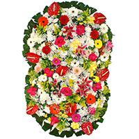 CoroaDeFlores.net - Coroa de Flores Suprema Colorida