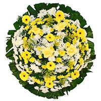CoroaDeFlores.net - Coroa de Flores Tradicional Amarela