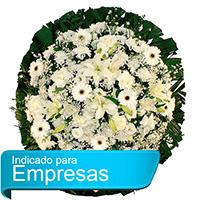 CoroaDeFlores.net - Coroa de Flores Luxo Branca