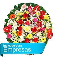 CoroaDeFlores.net - Coroa de Flores Luxo Colorida