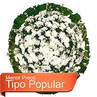 CoroaDeFlores.net - Coroa de Flores Popular Branca