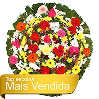 CoroaDeFlores.net - Coroa de Flores Tradicional Colorida