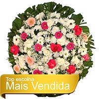 CoroaDeFlores.net - Coroa de Flores Tradicional Rosa