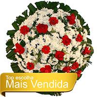 CoroaDeFlores.net - Coroa de Flores Tradicional Vermelha