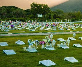 Coroa de Flores Cemitério Municipal de Taguaí – SP