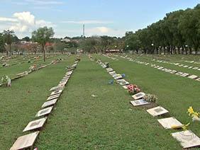 Coroas de Flores Cemitério da Comunidade do Garcia Alto Blumenau – SC